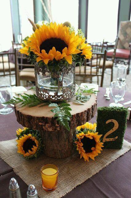 Centrotavola Con Girasoli Matrimonio : Centrotavola con girasoli abbinamento organizzazione