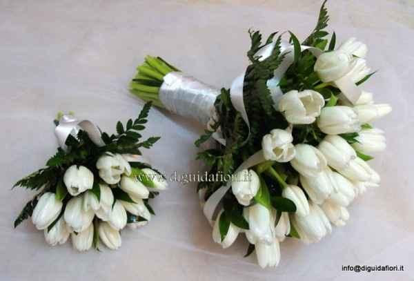esempio bouquet tulipani bianchi