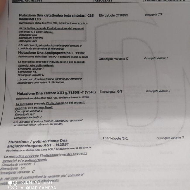 Referto trombofilia - 3