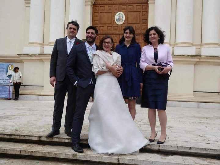 foto con famiglia di lui