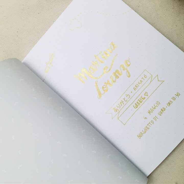 Libro firme viaggio di nozze - 1