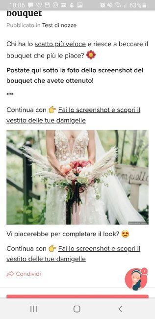 Fai lo screenshot e scopri il tuo bouquet 16