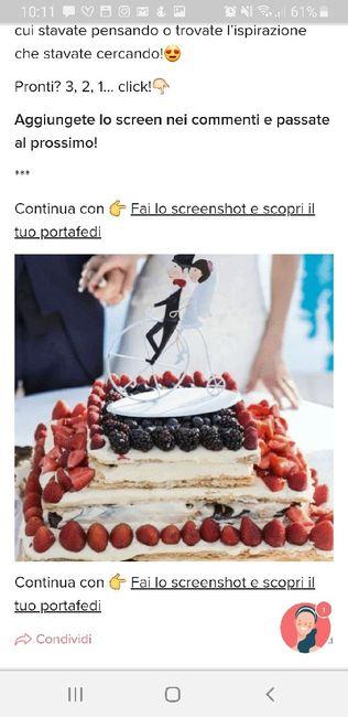 Fai lo screenshot e scopri la tua torta nuziale 16