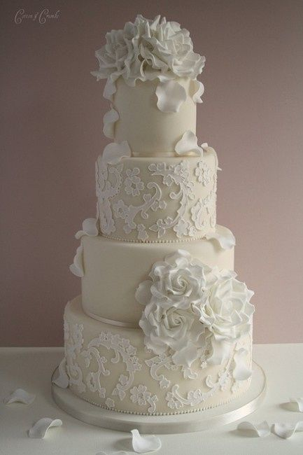 white lace wedding cake torta p 225 2 ricevimento di nozze forum matrimonio 27296