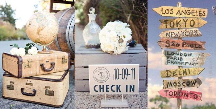 Matrimonio Tema Viaggio : Tema viaggi in stile shabby chic si o no