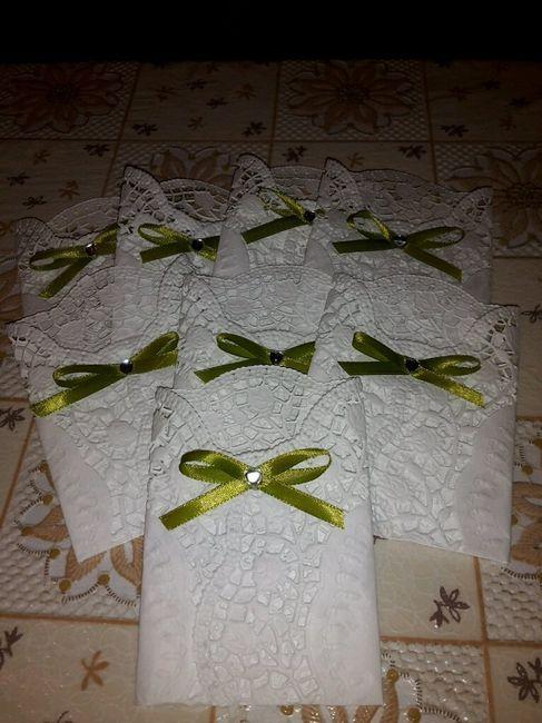 Fazzolettini e porta confetti per promessa fai da te - Confettata matrimonio a casa ...