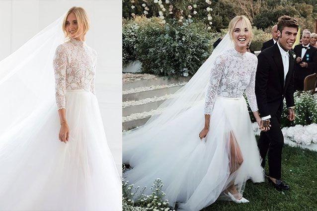 ae5c423f6686 Abito da sposa Chiara Ferragni ...