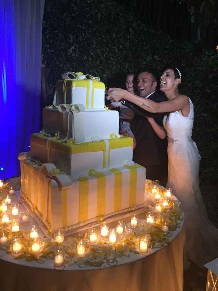 Le più belle torte nuziali gialle - 1