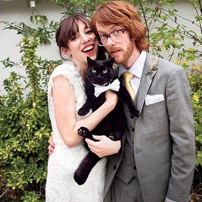 i nostri amici pelosi nel giorno delle nozze ❤️😍🐺🐱 11