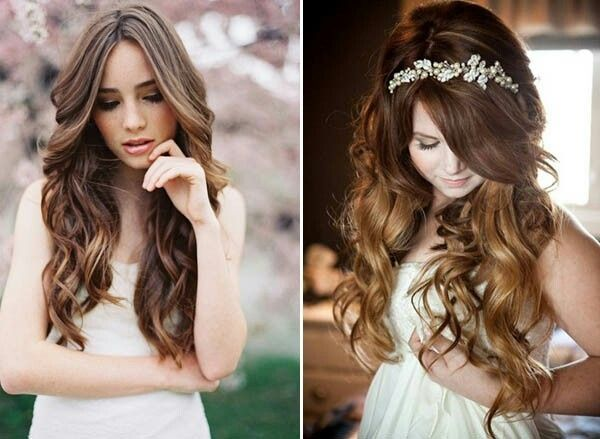 Acconciature sposa con capelli lisci