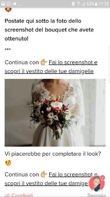 Fai lo screenshot e scopri il tuo bouquet 13