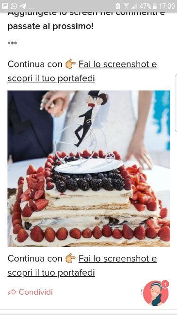 Fai lo screenshot e scopri la tua torta nuziale 12