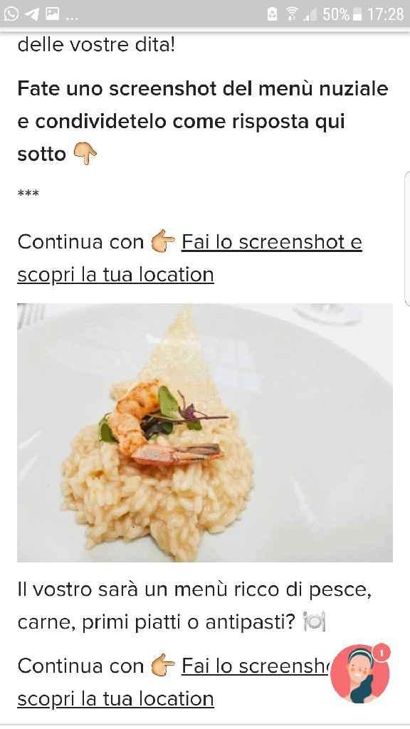 Fai lo screenshot e scopri il tuo menù - 1