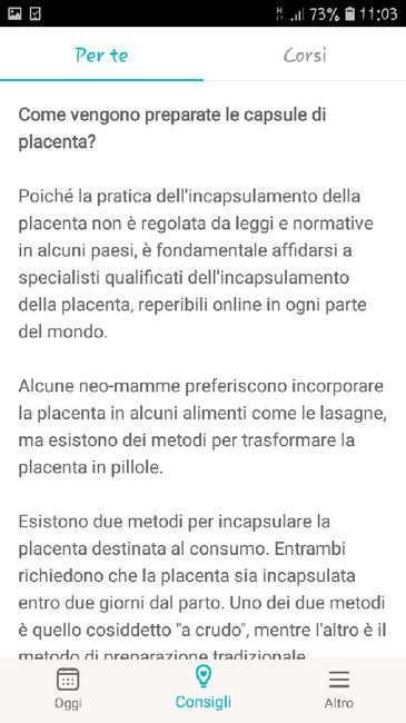 Incapsulamento della placenta... 1