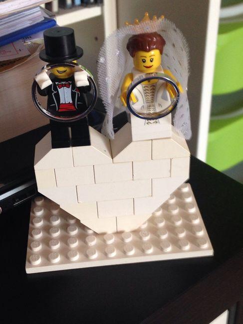 Matrimonio Tema Lego : Ed ecco il nostro porta fedi organizzazione matrimonio