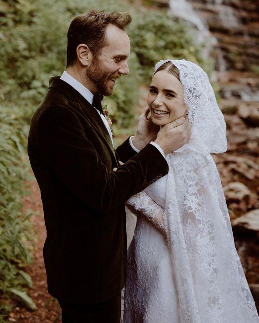 L'abito da sposa di Lily Collins: approvate?👗 2