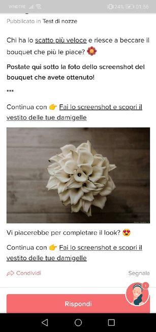 Fai lo screenshot e scopri il tuo bouquet 17