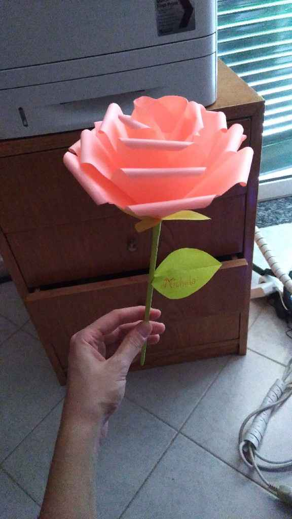 Bouquet sposa origami - 2