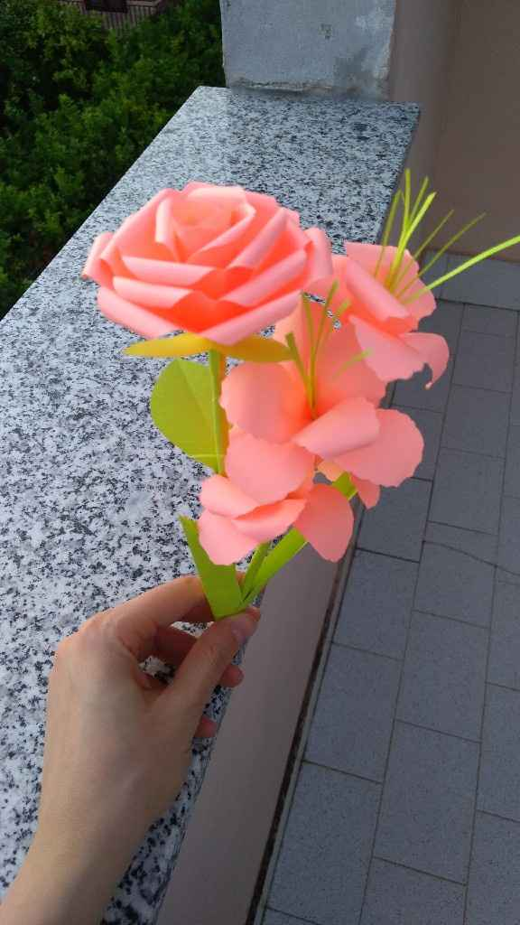 Bouquet sposa origami - 4