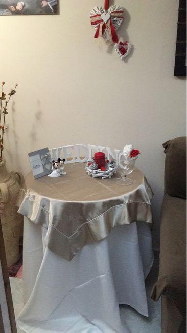 Tavolo sposa regali rosso o no fai da te forum - Tavolo matrimonio casa sposa ...