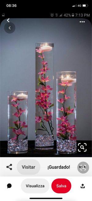 Idee centro tavola con candele galleggianti e fiori 1