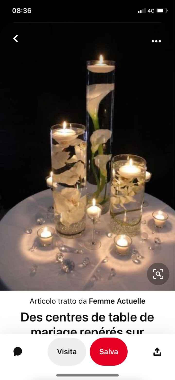 Idee centro tavola con candele galleggianti e fiori - 3