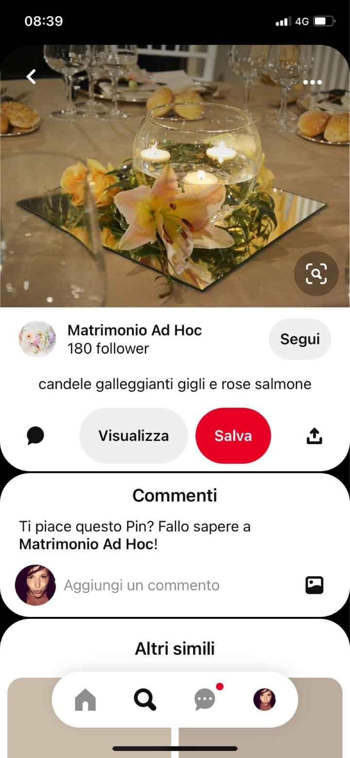 Idee centro tavola con candele galleggianti e fiori - 5