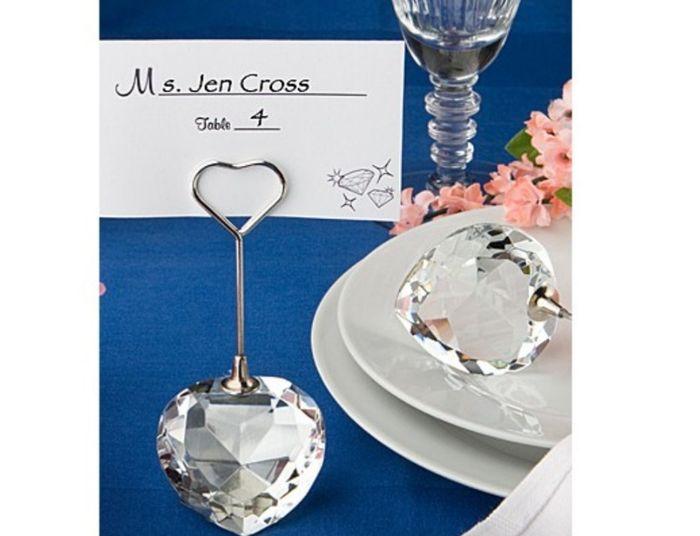 segnaposto matrimonio diamante