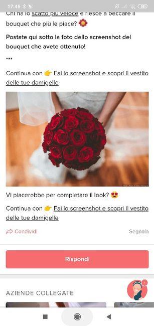 Fai lo screenshot e scopri il tuo bouquet 24