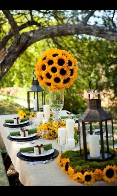 Tavoli Matrimonio Girasoli : Centro tavola girasoli fai da te forum matrimonio