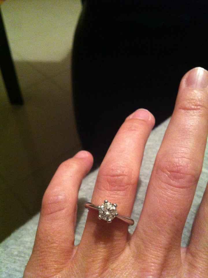 il  mio fantastico anello di fidanzamento