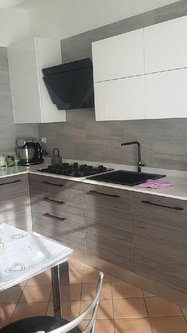 Chi ha in cucina top grigio e lavello e piano cottura neri for Piano cottura cucina
