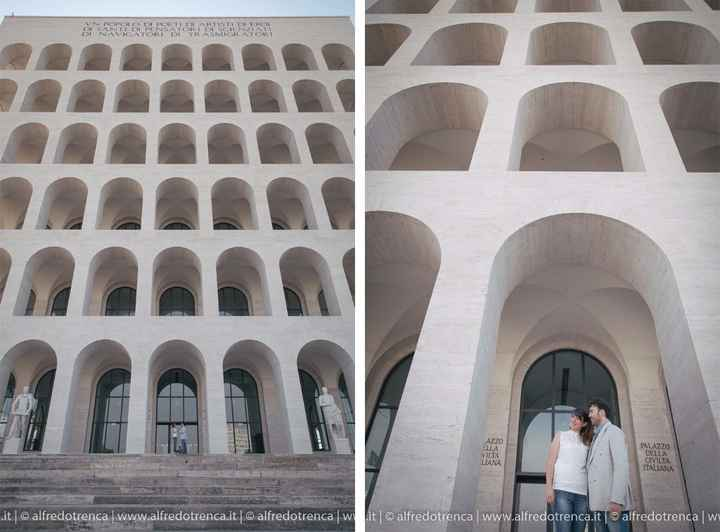 Noi al Colosseo quadrato