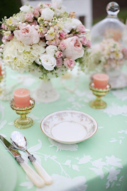 Matrimonio pesca e verde menta... - 1