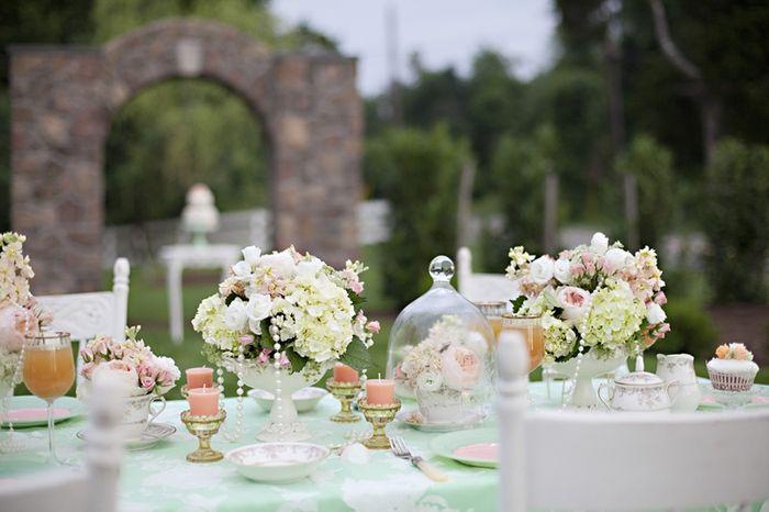 Matrimonio pesca e verde menta... - 2