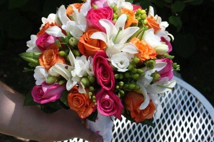 Matrimonio fucsia e arancio... - Foto