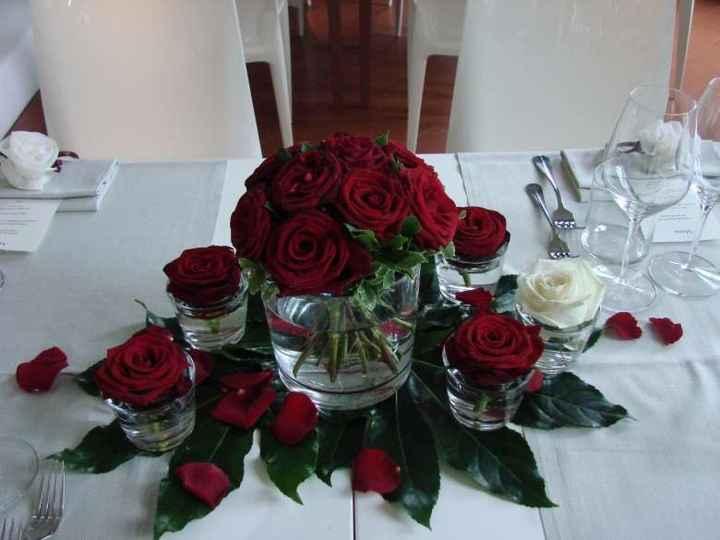 Centrotavola rose - 3