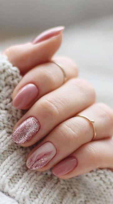 Manicure sposa rosa 🎀 1