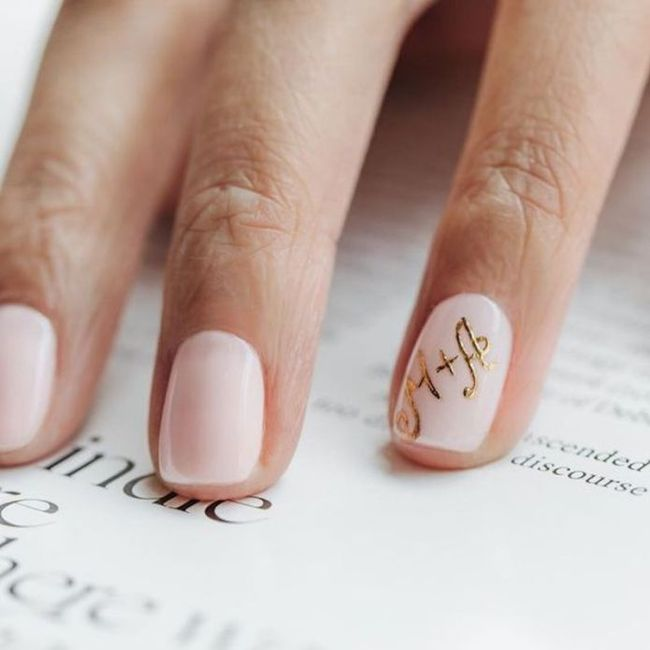 Manicure sposa rosa 🎀 2
