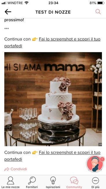 Fai lo screenshot e scopri la tua torta nuziale 14