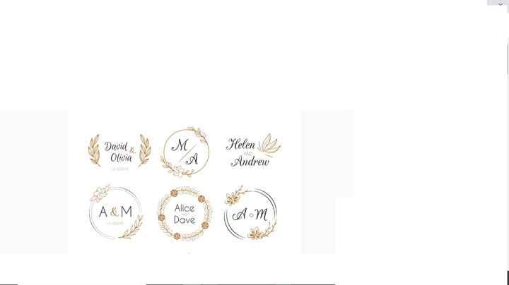 Come creare logo matrimonio - 1