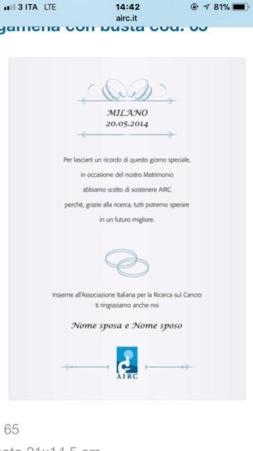 Bomboniere Solidali Matrimonio Airc.Bomboniere Solidali Airc Organizzazione Matrimonio Forum