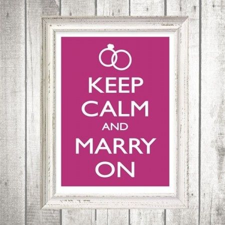 Keep calm and marry on foto for Keep calm immagini