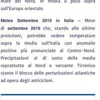 Meteo Settembre 2019 - 1