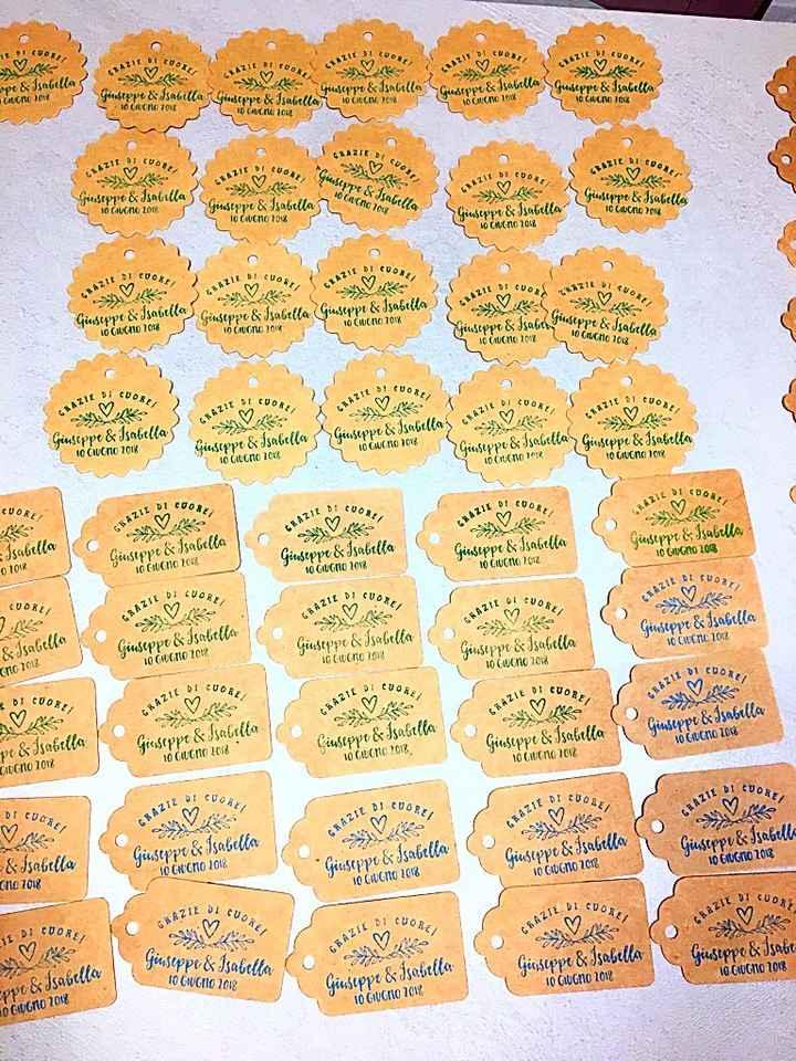 Timbro personalizzato più tag in carta kraft - 2
