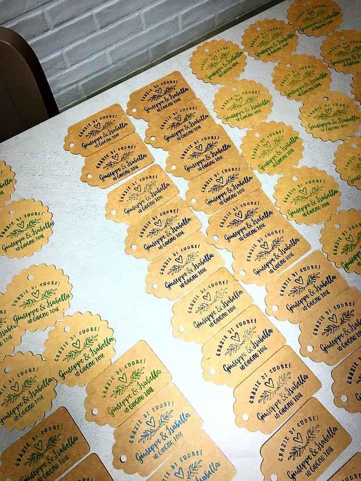 Timbro personalizzato più tag in carta kraft - 3