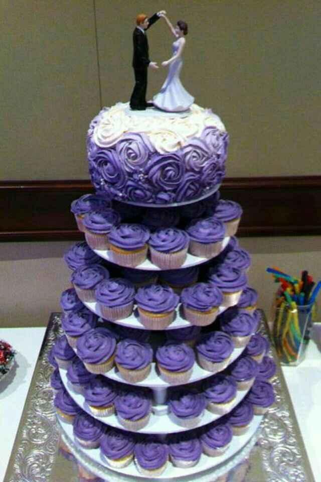 Nozze in viola! 💜 la torta nuziale 💜 - 1
