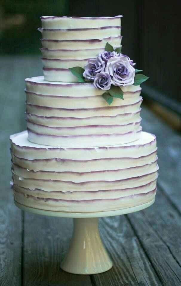 Nozze in viola! 💜 la torta nuziale 💜 - 5