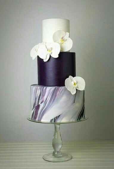 Nozze in viola! 💜 la torta nuziale 💜 - 8