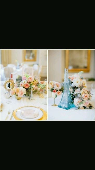 Matrimonio Tema Parigi : Centrotavola tema parigi hel foto fai da te